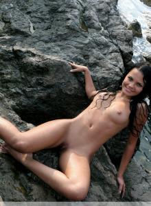Sexy Armida near the sea