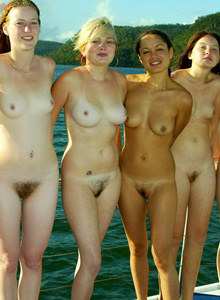 Six nudist girls sleeping