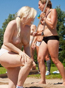 Nudists athletic - long jump