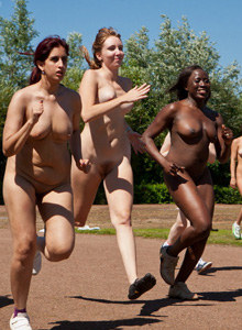 Nudists athletic - 100m sprint