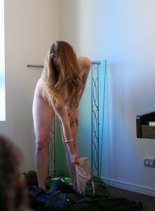 Hairy pussy busty Chloe dressing