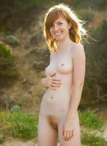 Hairy pussy playful beach girl Noelle
