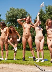 Nudists athletic - long jump