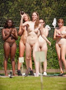 Nudists athletic - shot put