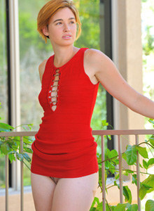 Sexy body girl Jodi with good shapes wearing red dress