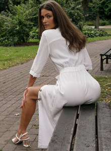 Sexy street walking goddess Shyla Volbeck